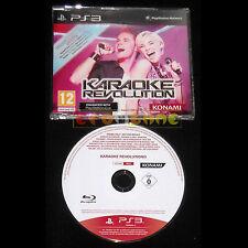 KARAOKE REVOLUTION PS3 Versione Promo Europea gioco completo ••••• USATO