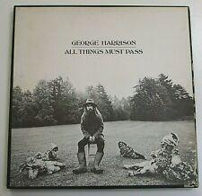 GEORGE HARRISON All Things Must Pass 3LP nMINT Vinyl Box Set Rare Album Poster