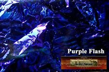 M00105 Morezmore Angelina Fantasy Film Purple Flash Blue Heat Bondable 10'