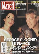 Paris Match magazine George Clooney Ukraine Sandrine Bonnaire Crazy Horse