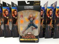 Lot of 9 Action Figures: Legends Series CAPTAIN MARVEL (Binary Form)-NEW/Sealed