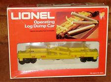 LIONEL -  #6-9303 OPERATING LOG DUMP CAR - O TRAIN - NIB