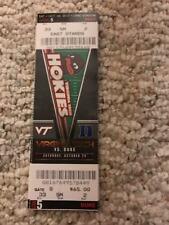 2017 VIRGINIA TECH HOKIES VS DUKE BLUE DEVILS FOOTBALL TICKET STUB 10/28