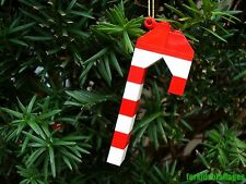 Custom Lego Candy Cane Christmas Ornament - Stocking Stuffers/Gifts