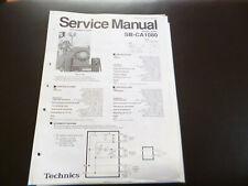 Original Service Manual Technics SB-CA1080