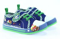 NEW BOX BOYS Canvas shoes trainers BABY BOY Real leather insoles size 3.5UK