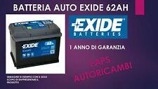 BATTERIA AUTO EXIDE EB620  62AH SPUNTO 540EN