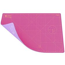 A1 Double Sided Self Healing 5 Layers Cutting Mat Imperial/Metric Super Pink