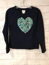 CREWCUTS Pullover Sweatshirt girls size 14 blue sequins 100% cotton long sleeve