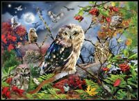 Owls in the Moonlight - Chart Counted Cross Stitch Pattern Needlework Xstitch