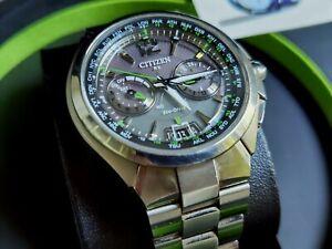 CITIZEN Satellite Wave GPS ref. CC1090-52F World Time radiocontrolled watch uhr