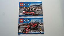 Lego City!!! Instrucciones Solamente!!! Para 60084 Bicicleta de carreras transportador