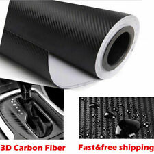 3D Carbon Fibre Vinyl Wrap (Air/Bubble Free) Black 127cm X 30cm Car DIY Sticker
