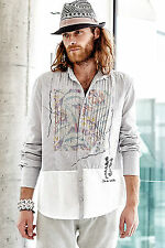 Normale Klassische Herrenhemden im Kentkragen-Stil mit Krempelärmel-Ärmelart aus Baumwolle