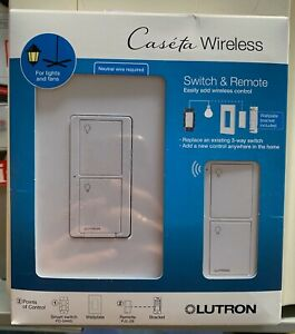 Lutron Caseta P-PKG1WS-WH Smart Switch Kit with Remote| 3-Way (2 Points of Contr