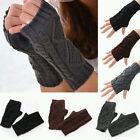 New Women Winter Wrist Arm Hand Warmer Knitted Long Fingerless Gloves Mitten