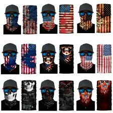 9pcs Skulls Sun Shield Mask Neck Gaiter BlacHeadband Bandana Du Rag Fishing Cap