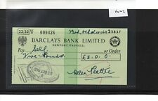 CHEQUE - CH1602 - USED -1963- Barclays Bank, Newport Pagnell