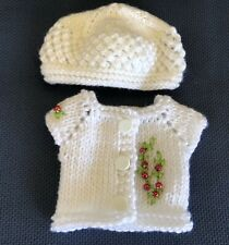 ***Christmas*** Hand Knit Sweater, Hat For Dianna Effner Little Darling 13""