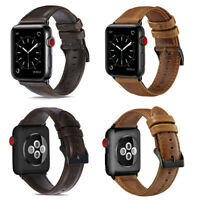 Premium Genuine Leather Watch Band Strap Bracelet for Apple Watch Series 4/3/2/1