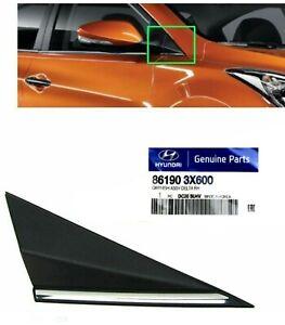 Mirror Fender Corner Trim Molding Right Cap Cover Triangle Delta Elantra 2014-16