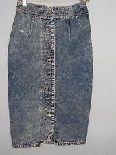 Vintage Ethics Acid Wash Blue Jean Denim Skirt Size 5 #Cl76