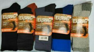 6 Pairs Explorer Rio Men's Women's Works Cotton Rich Socks size 3-9/6-10/11-14