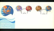 Postal History Singapore FDC #426-429 Asean Cable Communications Thailand 1983