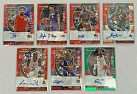 LOT (7) 2020-21 PRIZM DRAFT BASKETBALL AUTOGRAPH AUTO RED ICE GREEN REFRACTOR