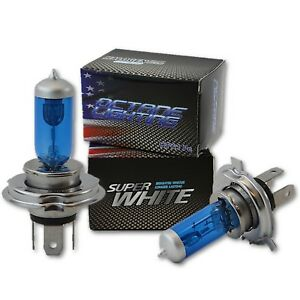 "7X6"" Headlights Headlamp Halogen H4 Light Bulbs Super White 60/55W HID 6000K"