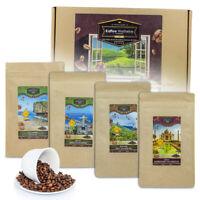 Box mit internationalen Kaffeesorten, Koffeinhaltige Weltreise, Box mit Kaffee