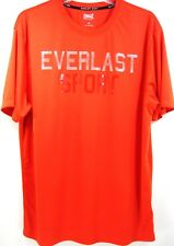 Everlast Sport Men SS Wicking T-Shirt Size L Orange Graphics