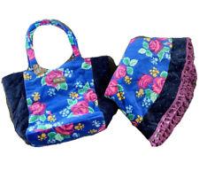 NWT Blue Floral Matilda Jane Circle Beach Towel W Fringe & Bag