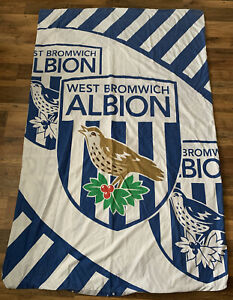 """WBA Single Bed Duvet Cover 52"""" X 70"""" West Bromwich Albion Material Crafting"""