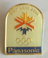 Panasonic Advertising Sponsor Salt Lake City 2002 Winter Olympics Pin Badge (F1)
