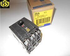 NEW SQUARE D QO QO320 3 POLE 20 AMP BREAKER 3P 20 AMP 240V QO FITS NQ NQOD