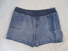 Maternity Announcements Womens XL Summer Distressed Blue Denim Jean Shorts CB27Z