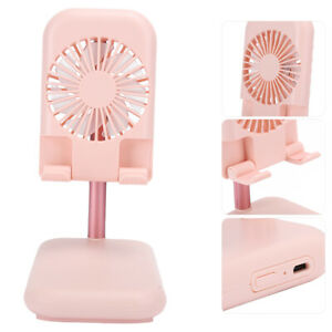 Portable Cooling Fan w/Phone Holder Stand and USB Charger 2 Speed Option Fan MDF