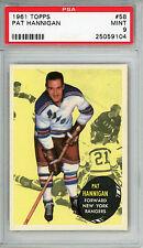 1961 Topps #58 Pat Hannigan PSA 9 MINT *Top Pop* New York Rangers