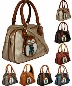KukuBird Owl Coin Pouch Pattern Faux Leather Designer Boutique Totes Handbags