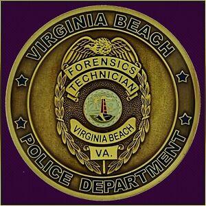 Virginia Beach Police Forensics Challenge Coin