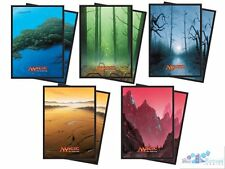 LANDS blue, green, black, white, red ULTRA PRO deck protector card sleeves MTG