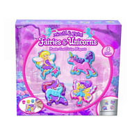 Mould & Paint Unicorn & Fairies Fridge Magnets Make Your Own Plaster Fairy Kit