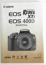 Canon EOS Rebel XTi/400D Spanish Language Instruction Manual