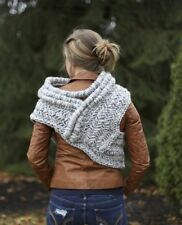 SALE Katniss inspired cowl vest shawl armor in gray or barley brown