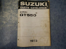1973 SUZUKI GT550 INDY PARTS CATALOGUE MANUAL 2ND EDITION 73 GT 550 J K