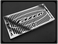 Polished Radiator Cooler Grill for YAMAHA FZ6 - 2004 to 2006, FAZER 600