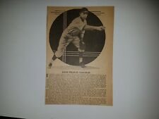 Leon Chagnon 1935 Sporting News LARGE Profile Panel Insert #B