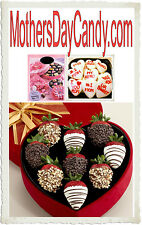 Mothers Day Candy .com  Box Chocolate Mints Carmel Fudge Domain Name Web Store
