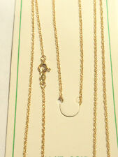"""14K ROPE CHAIN 18"""" inch - .8mm Wide - 1.3 GRAMS - SOLID YELLOW GOLD - NEW"""